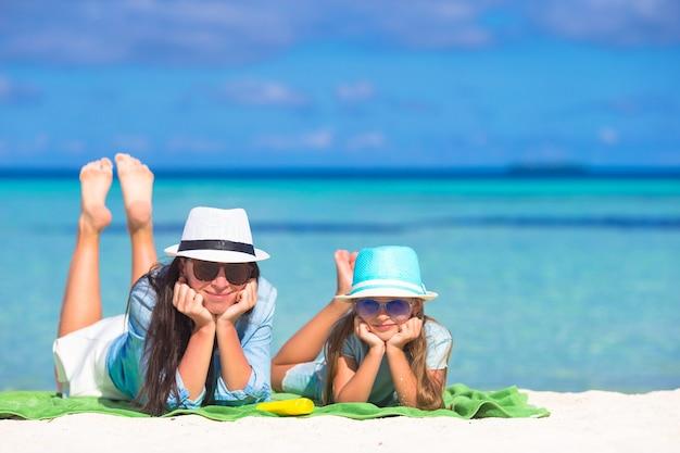 Kinderbescherming zonnecrème Premium Foto