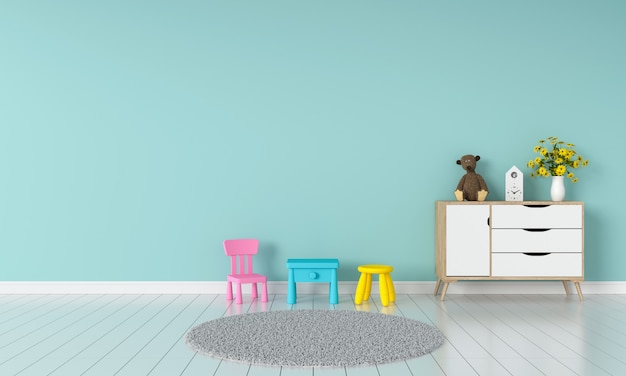kinderkamer interieur voor mockup premium foto