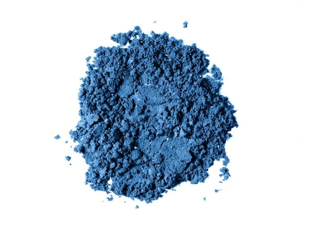 Klassieke blauwe oogschaduw poeder textuur Premium Foto