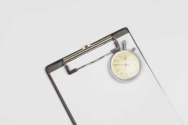 Klembord met stopwatch Premium Foto