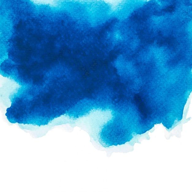 Kleur blauw aquarel.afbeelding Premium Foto