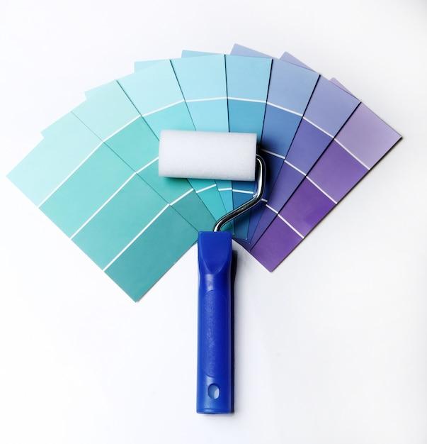 Kleurenpalet, catalogus of schema en roller Gratis Foto