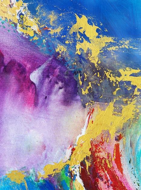 Kleurrijk abstract olieverfschilderij Premium Foto