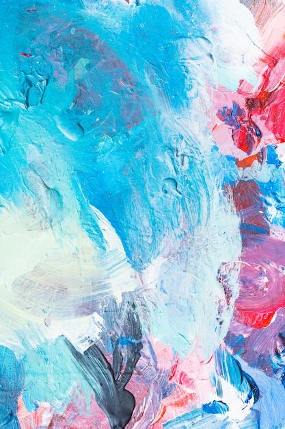 Kleurrijk abstract schilderij met romige textuur Gratis Foto