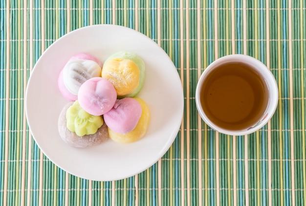 Kleurrijk dessert mochi Gratis Foto