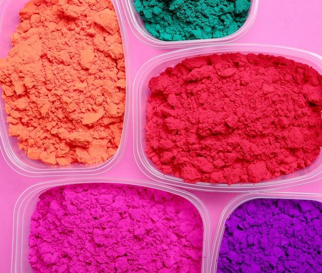 Kleurrijk poeder, holi-festivalconcept Gratis Foto