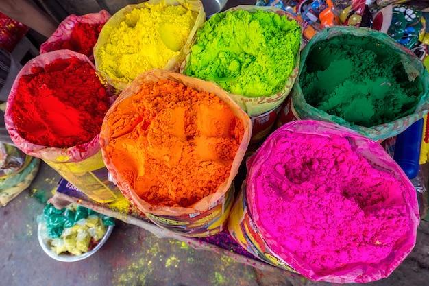 Kleurrijk poeder holi Premium Foto