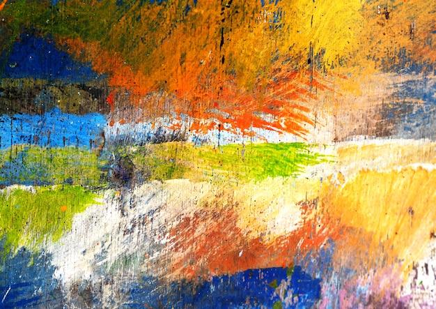 Kleurrijk schilderij abstracte achtergrond met textuur Premium Foto