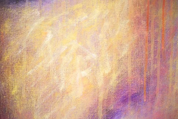 Kleurrijk van abstracte acrylverf textuur achtergrond op canvas. Premium Foto