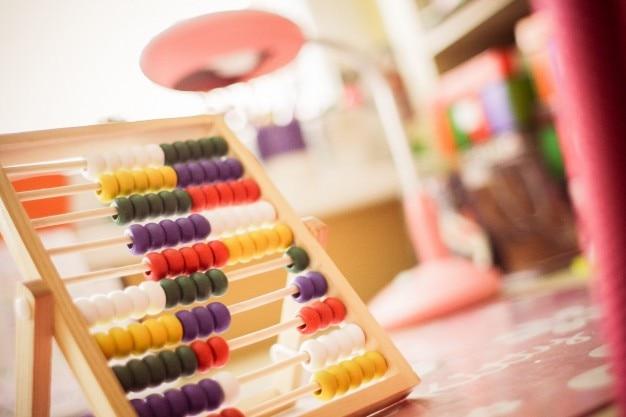 Kleurrijke abacus Gratis Foto