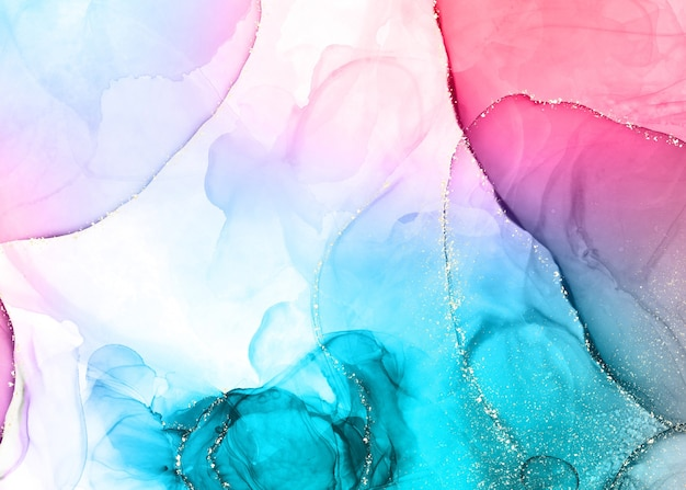 Kleurrijke achtergrond met alcoholinkt Gratis Foto