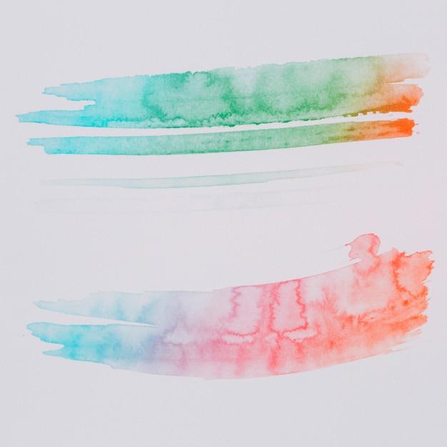 Kleurrijke aquarel abstracte achtergrond Gratis Foto