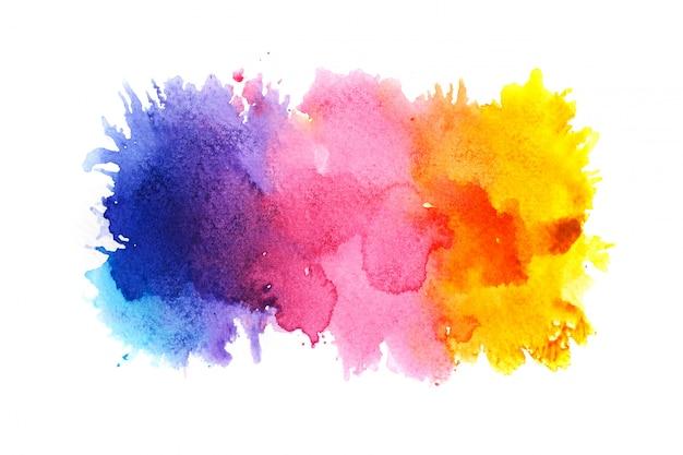 Kleurrijke aquarel achtergrond. Premium Foto