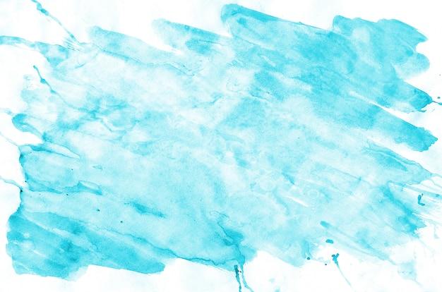 Kleurrijke blauwe de verfvloeistof van de waterverf natte borstel Premium Foto