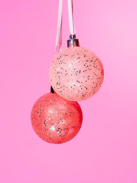 Kleurrijke de decoratieballen van de close-up Gratis Foto