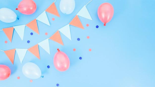 Kleurrijke decoratieve verjaardagselementen Gratis Foto