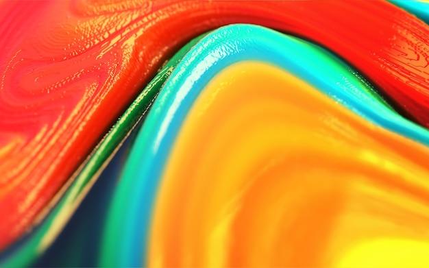 Kleurrijke geel blauw rood groen glanzend en glanzend plastic abstracte achtergrond. Premium Foto