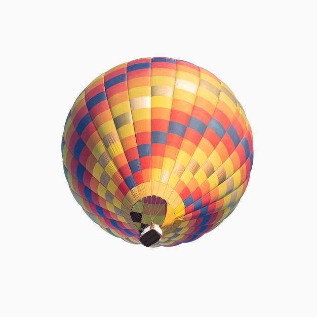 Kleurrijke hete luchtballon geïsoleerd op een witte achtergrond Premium Foto