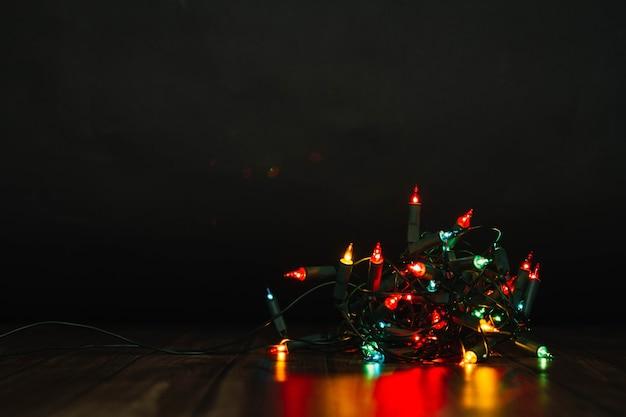 Kleurrijke kerstverlichting Gratis Foto
