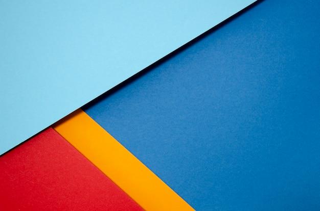 Kleurrijke kopie ruimte minimale geometrische vormen en lijnen Gratis Foto