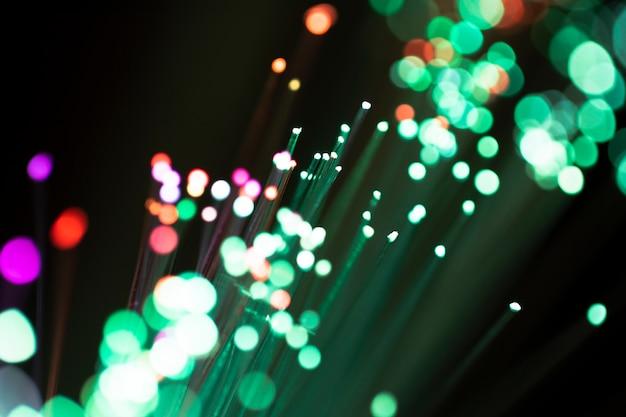 Kleurrijke lichten van optische vezel Gratis Foto