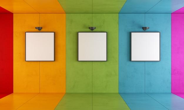 Kleurrijke moderne kunstgalerie Premium Foto