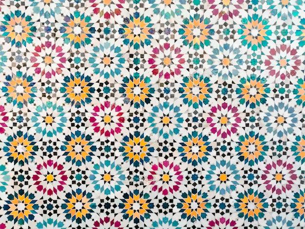 Kleurrijke mozaïek patroon achtergrond Gratis Foto
