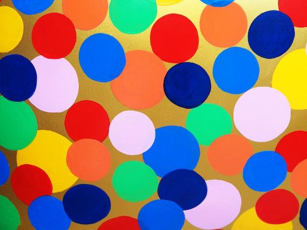 Kleurrijke multikleuren abstracte achtergrond en textuur van het cirkelolieverfschilderij Premium Foto