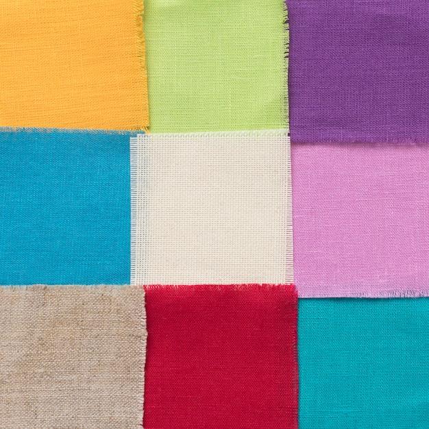 Kleurrijke stukken van lakenregeling Premium Foto