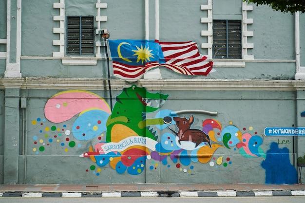 Kleurrijke verf op een muur Gratis Foto