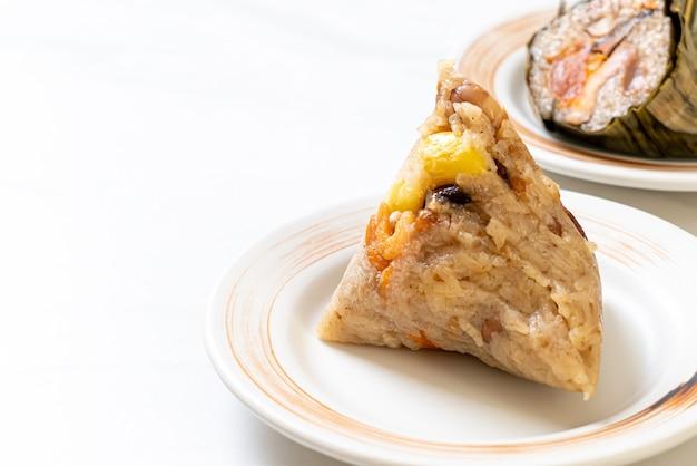 Kleverige rijst knoedel Premium Foto