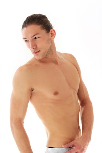 Knappe shirtless man Gratis Foto