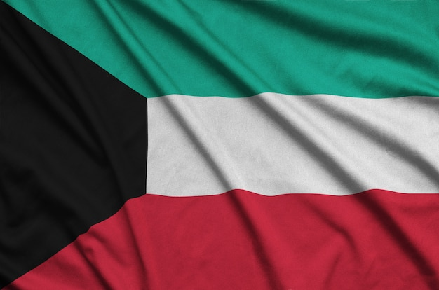 Koeweitse vlag met veel plooien. Premium Foto