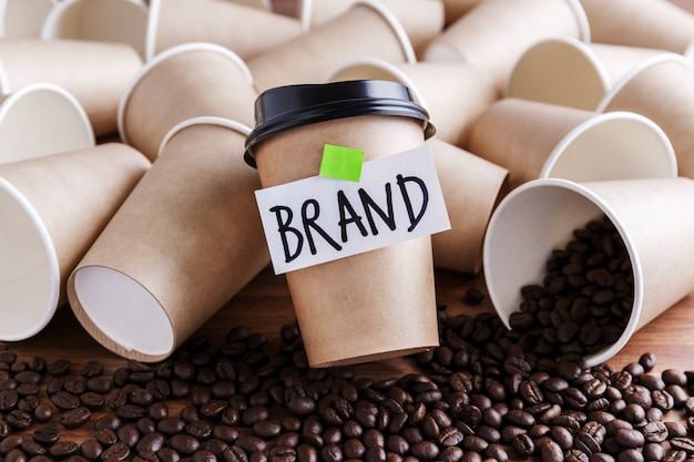 Koffie branding concept Premium Foto