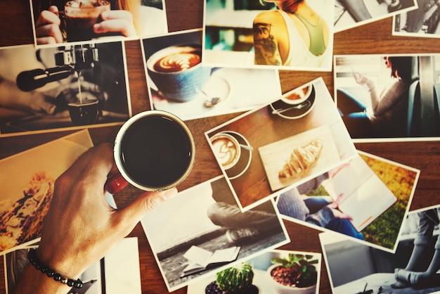 Koffie cafe kalme chill drank rusten geniet van concept Gratis Foto