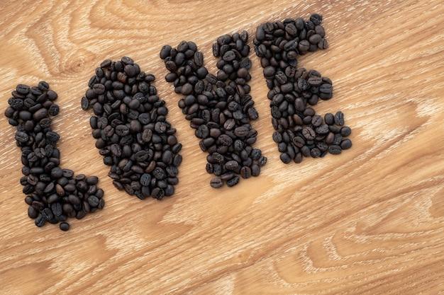 Koffie liefhebber valentijn concept. Premium Foto