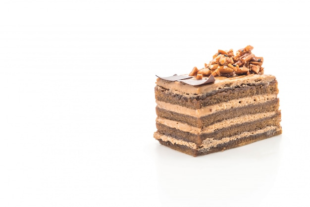 Koffie toffee cake Premium Foto