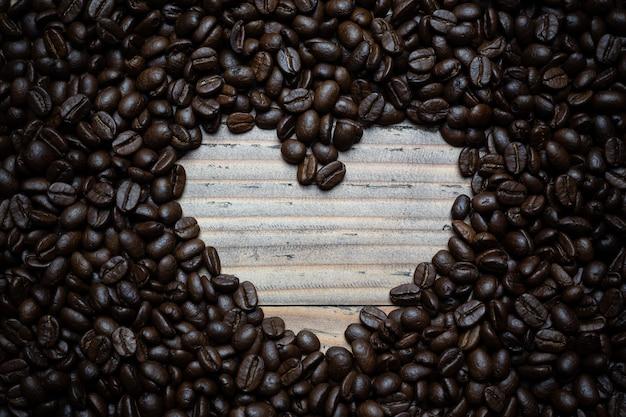 Koffiebonen achtergrond. Gratis Foto