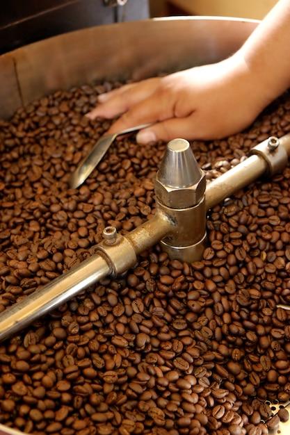 Koffiebrander Premium Foto