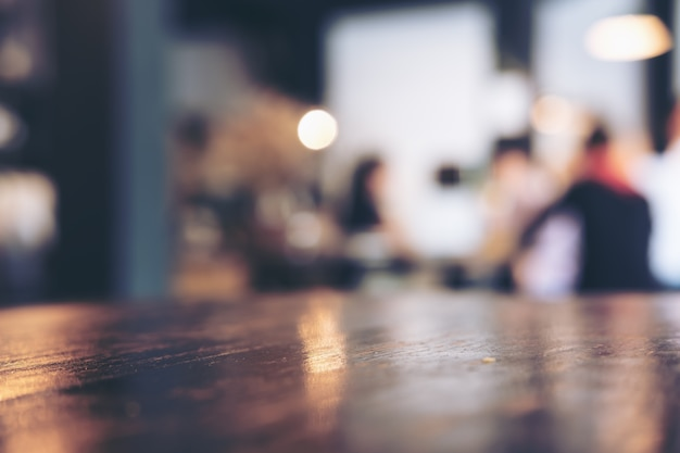 Koffiecafé vervagen Premium Foto