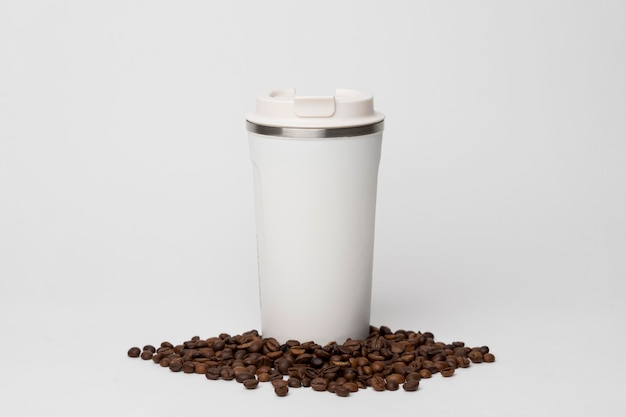 Koffiekolf op bonenregeling Gratis Foto