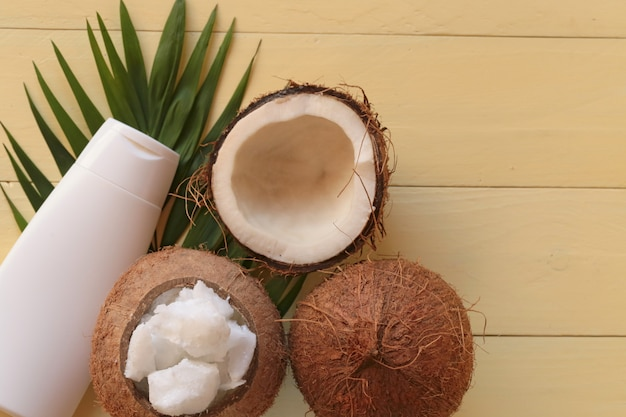 Kokosnootolie. Premium Foto