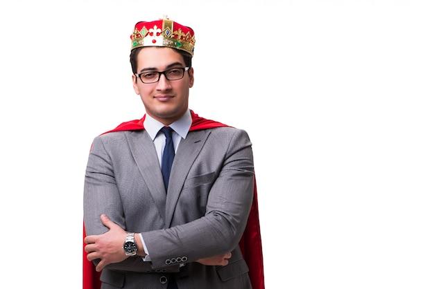 Koningszakenman die rode dekking dragen Premium Foto
