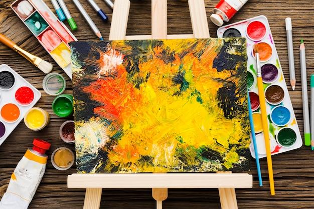 Kopieer ruimte beschilderd canvas Gratis Foto