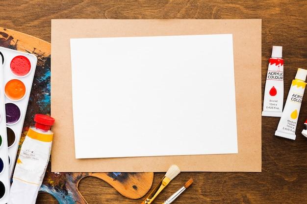 Kopieer ruimte papier en acryl Gratis Foto