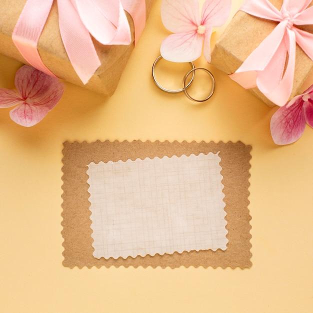 Kopieer ruimte uitnodiging brief bruiloft concept Gratis Foto