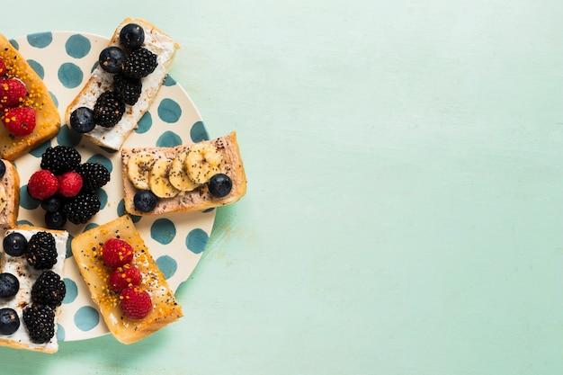 Kopieer ruimte vintage ontbijt concept Gratis Foto