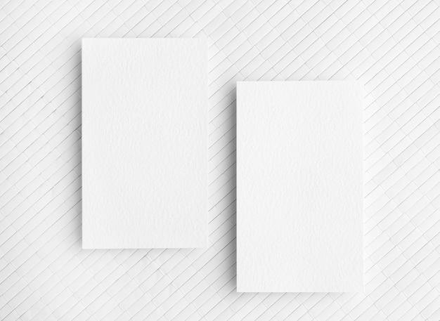 Kopieer ruimte visitekaartjes op witte achtergrond Gratis Foto