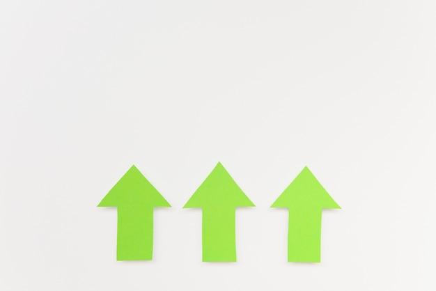 Kopieerruimte groene pijlen Gratis Foto