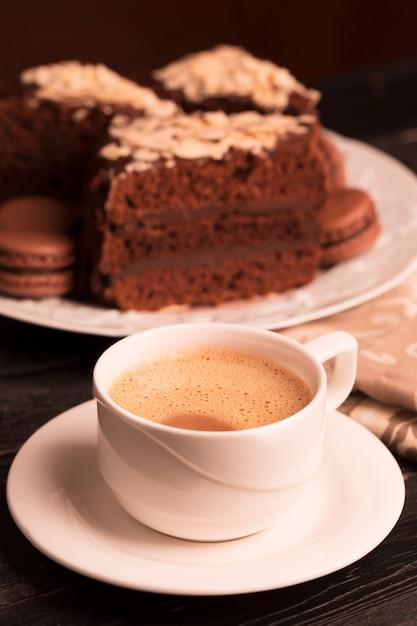 Kopje koffie met melk Premium Foto